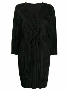 Pleats Please Issey Miyake plissé belted cardigan - Black