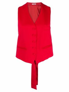 Styland button-up waistcoat - Red