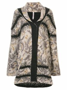 Antonio Marras floral knitted coat - Brown