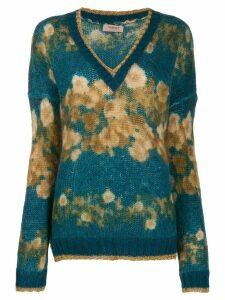 Twin-Set v-neck floral jumper - Blue