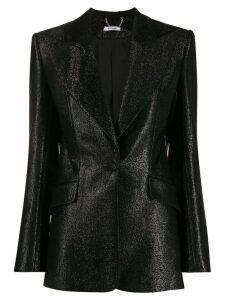 Styland metallic peaked lapel blazer - Black