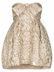 Alexandre Vauthier bustier pouf-style mini dress - Neutrals