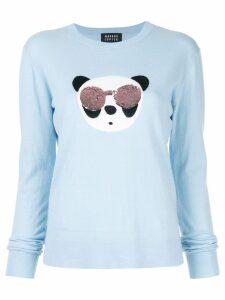 Markus Lupfer Tracy Panda sequin sweater - Blue