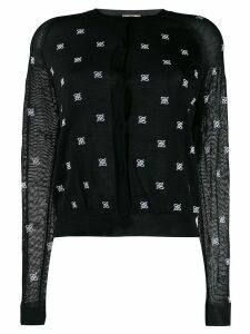 Fendi round neck cardigan - Black