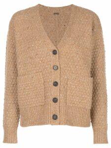 Adam Lippes texture knit cardigan - Brown