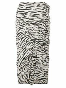 A.L.C. zebra print skirt - Black
