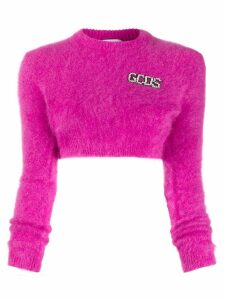 Gcds cropped logo sweater - Pink