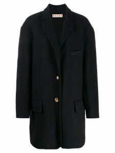 Marni single breasted coat - Blue