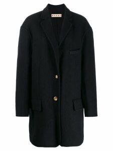 Marni single breasted coat - Blue