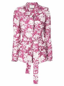 Alexis Raquelle floral print blazer - Pink
