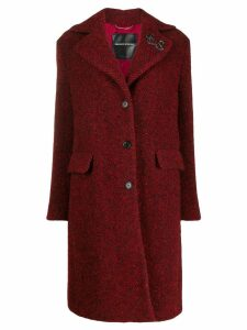 Ermanno Scervino single breasted coat - Red