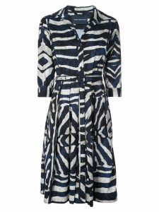 Samantha Sung Zibra print shirt dress - Blue