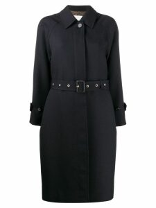 Mackintosh BRORA Navy Virgin Wool Single Breasted Trench Coat