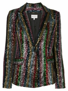 Milly sequinned single-breasted blazer - Black