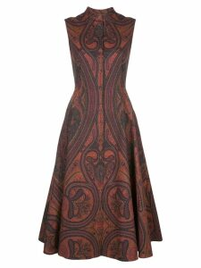 Adam Lippes paisley print flared dress