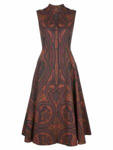 Adam Lippes paisley print flared dress