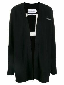 Calvin Klein Jeans knitted logo cardigan - Black