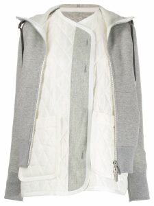 Sacai two-in-one top - Grey