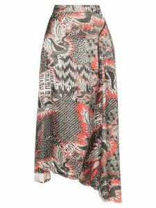 Rave Review dragon print drape skirt - Printed