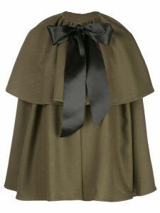Adam Lippes bow cape coat - Green