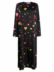 Racil heart print midi dress - Black