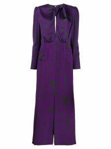 Racil heart print midi dress - Purple