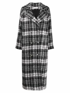 Faith Connexion checked double breasted coat - Grey