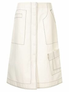 3.1 Phillip Lim high-waisted button down skirt - White