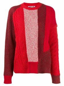 McQ Alexander McQueen panelled knit jumper - Red