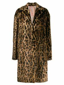 Nº21 leopard print coat - Neutrals