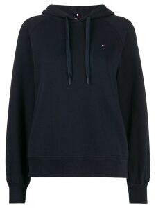 Tommy Hilfiger embroidered logo hoodie - Blue
