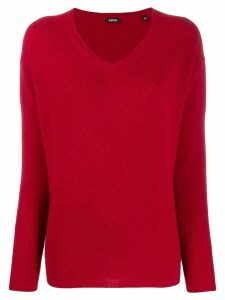 Aspesi knit V-neck sweater - Red