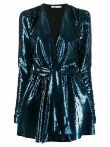 Amen sequinned mini dress - Blue