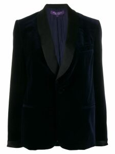 Ralph Lauren Collection contrast single-breasted blazer - Blue
