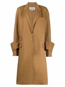 Loewe cuff detail coat - Neutrals