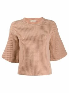 Odeeh short-sleeved knitted top - Pink