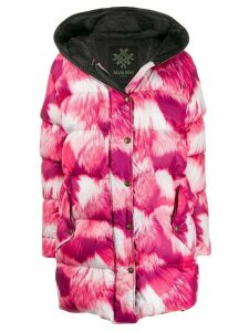 Mr & Mrs Italy hooded padded coat - Pink