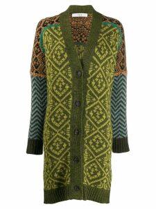 Tela colourful knit cardigan - Green