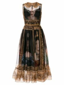 Dolce & Gabbana Queen-print dress - Black