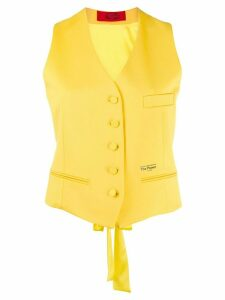 Styland power button-up waistcoat - Yellow