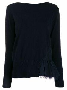 Twin-Set asymmetric blouse - Blue