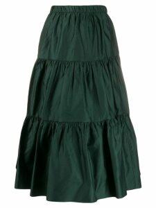Marc Jacobs ruffled midi skirt - Green