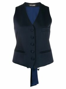 Styland button-up waistcoat - Blue