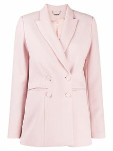 Styland double breasted peaked lapel blazer - Pink