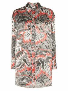 Rave Review electra dragon print shirt - Printed
