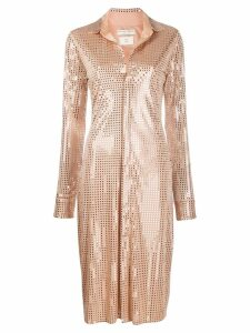 Bottega Veneta studded disco dress - Neutrals