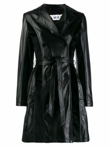 Almaz leather trench coat - Black