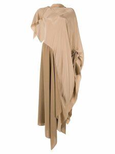 Roland Mouret Calhern asymmetric dress - Brown