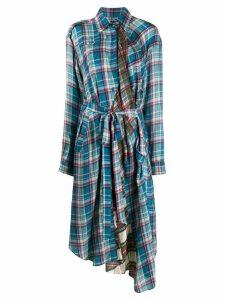 Preen By Thornton Bregazzi piper checkered dress - Blue