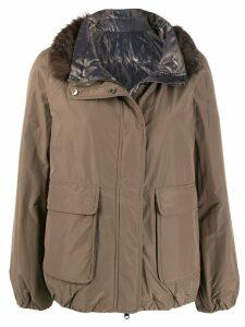 Brunello Cucinelli zipped padded jacket - Neutrals